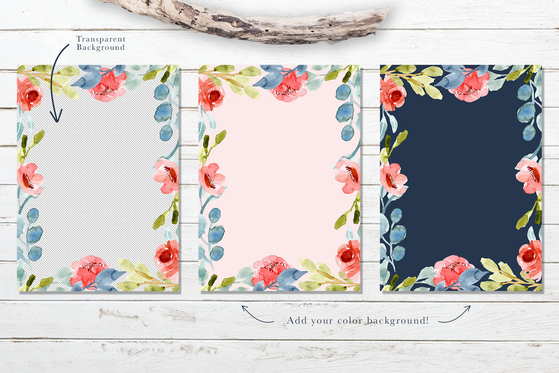 Floral Invitation Backgrounds Vol.3 example image 7