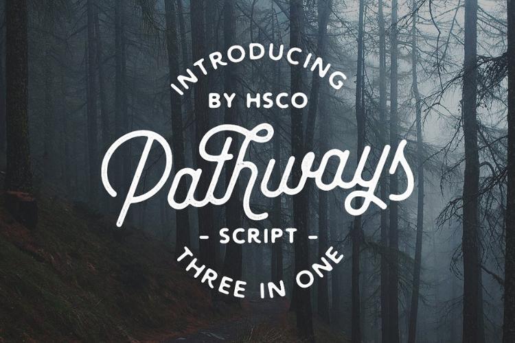 Pathways | 4 Styles Bonuses - Font example image 1