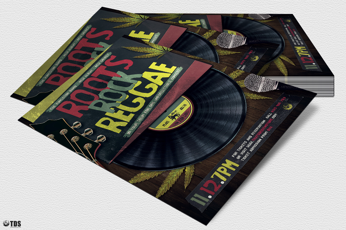 Roots Rock Reggae Flyer Template example image 5