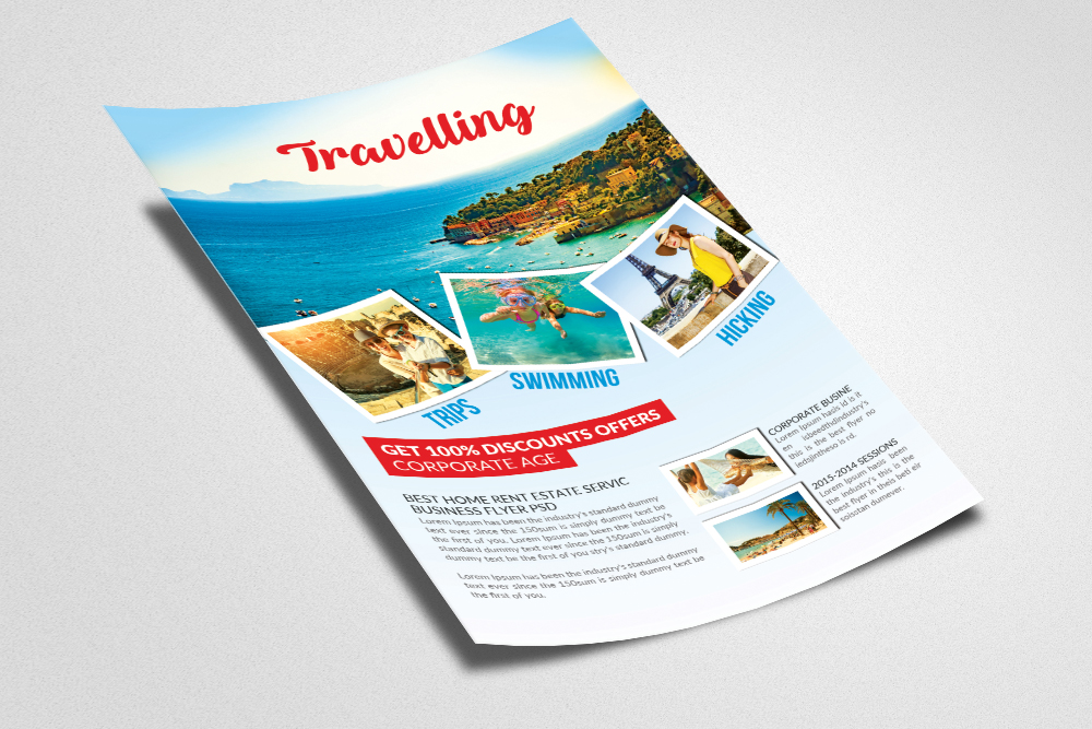 Tour & Travel Vacation Flyer Template example image 2