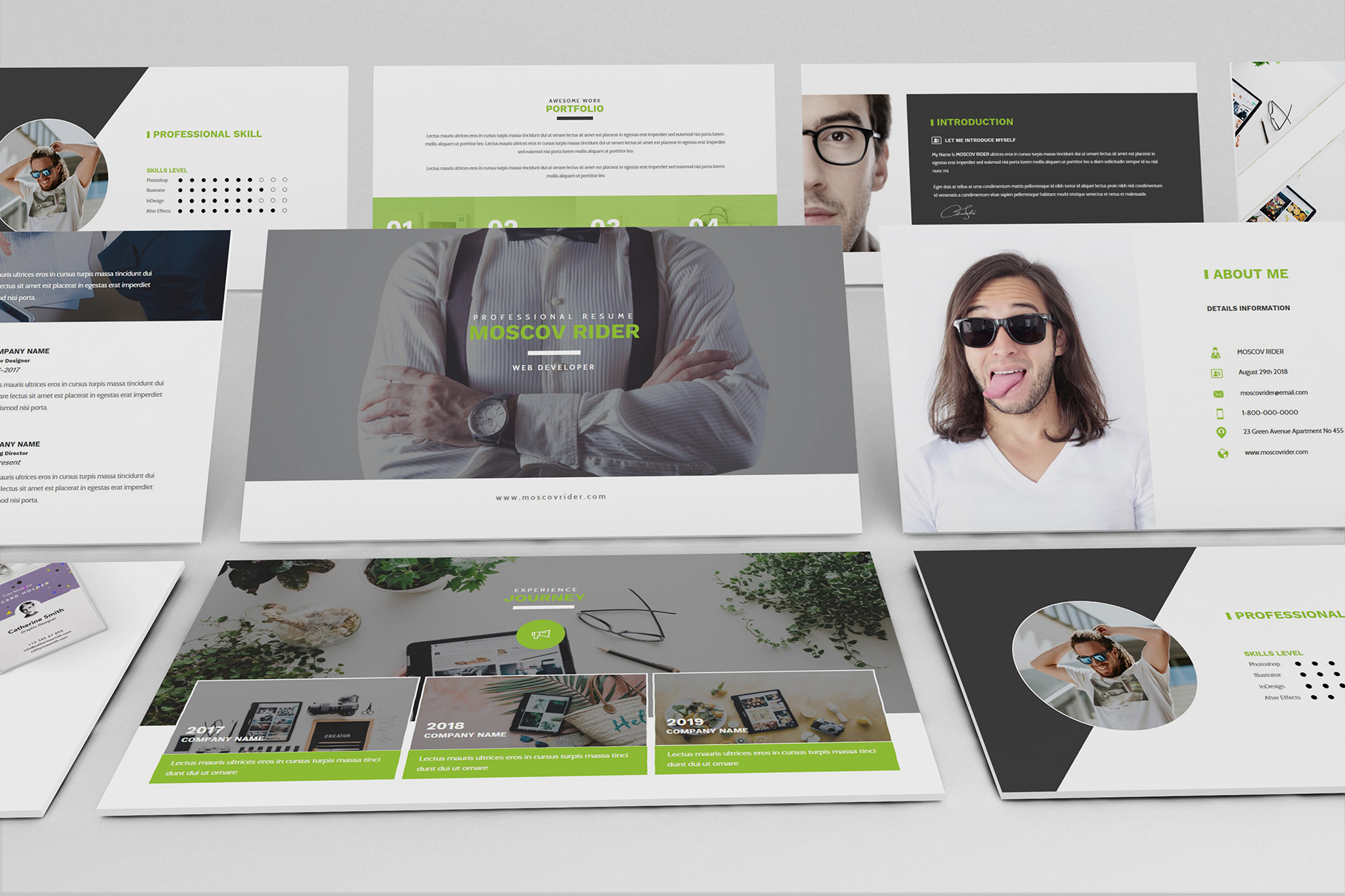Resume CV Powerpoint Template example image 5