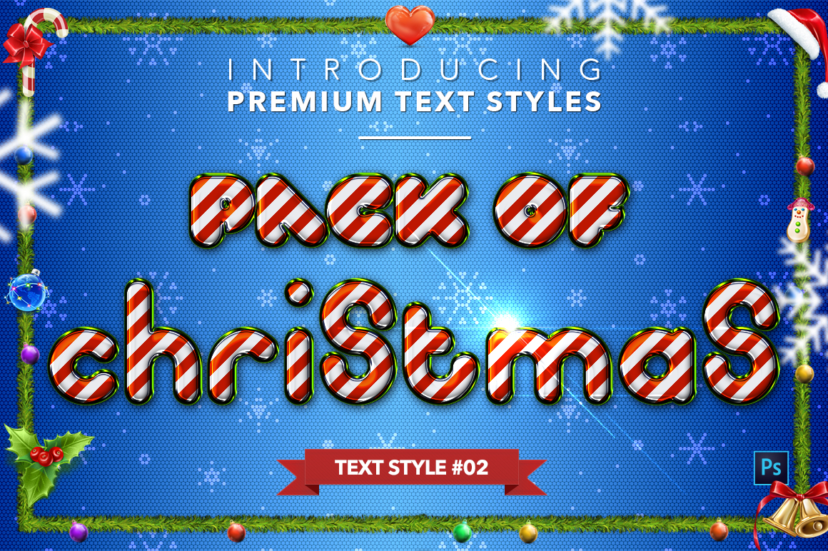 Christmas Pack #2 - 20 Text Styles example image 3