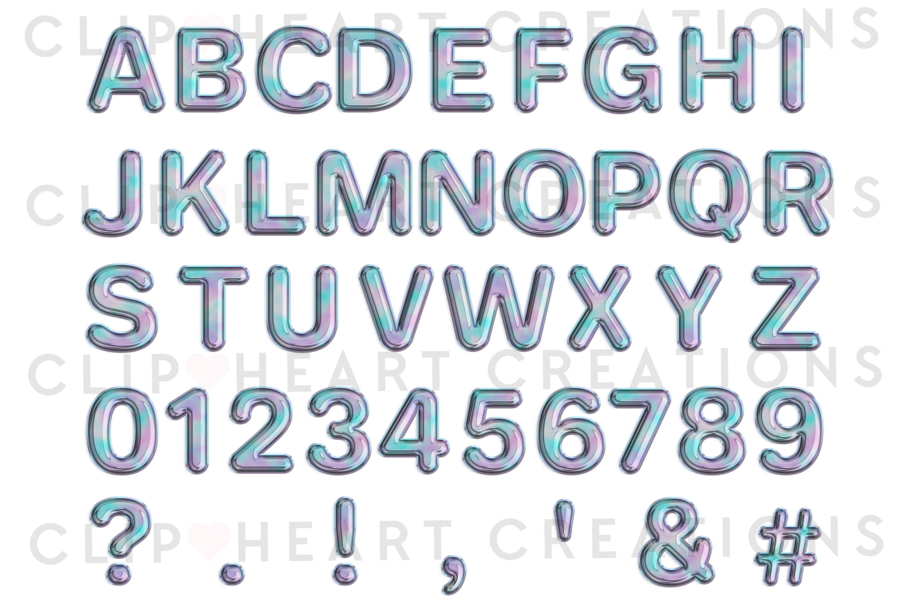 Holographic Foil Balloon Alphabet & Numbers example image 2