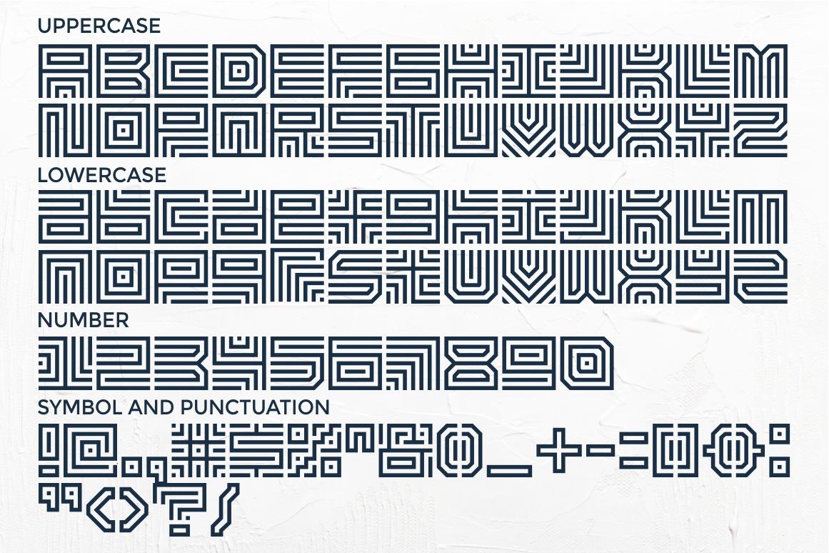 Maze Line Typeface example image 7
