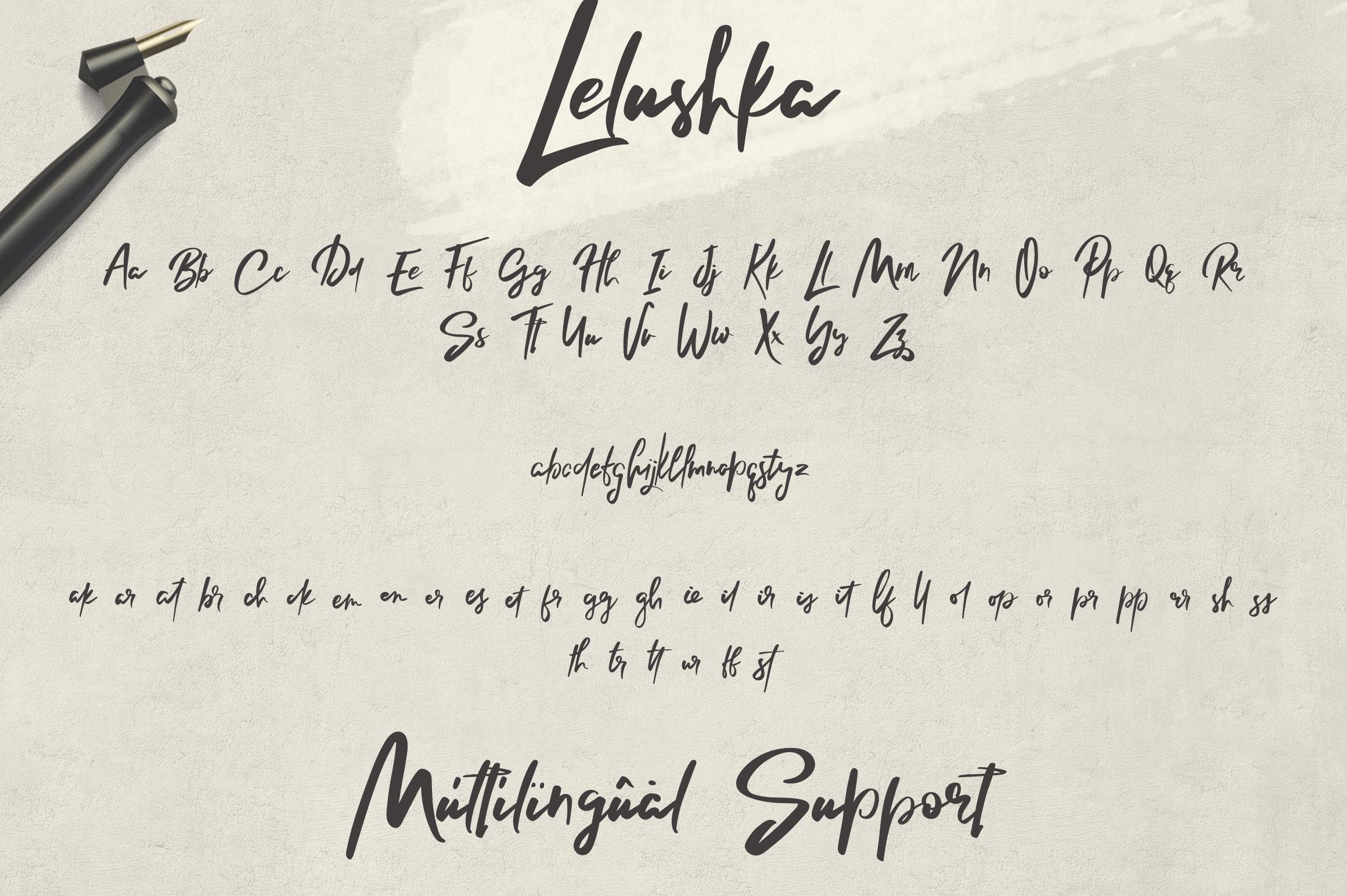 Lelushka Script Ink marks example image 8