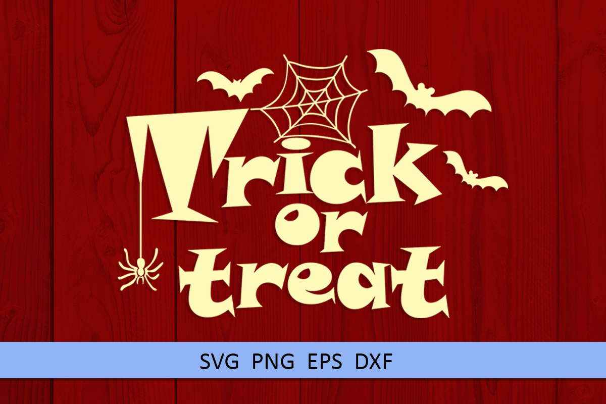 Halloween svg Trick or treat svg Boo svg Spider web svg example image 4