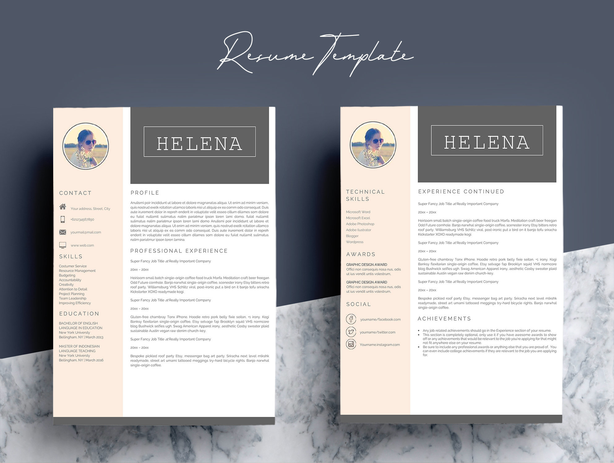 Professional Resume Template CV 4 Pages example image 4