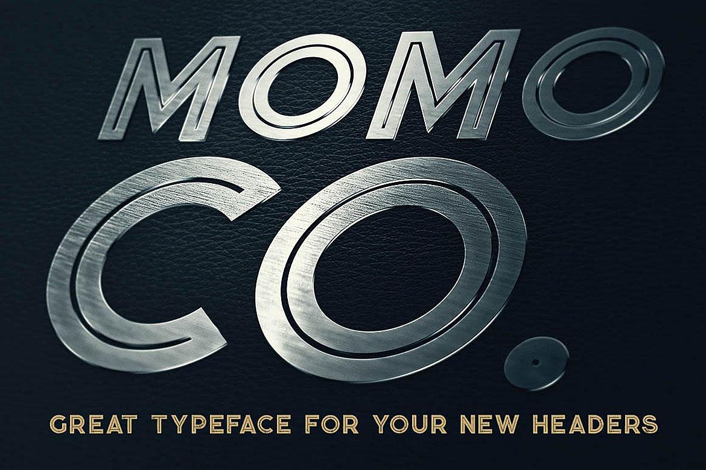 Momoco - Display Font example image 4