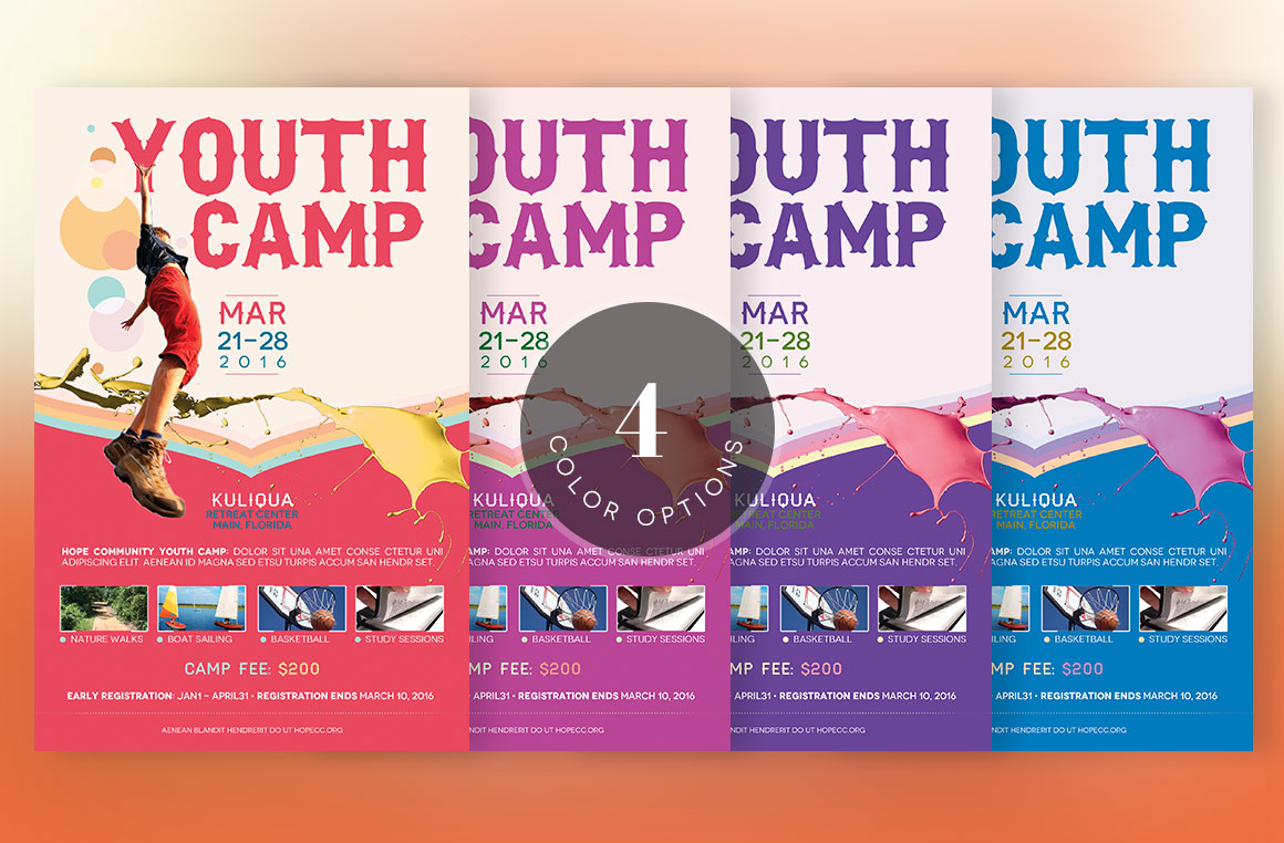 Youth Camp Flyer Template example image 4