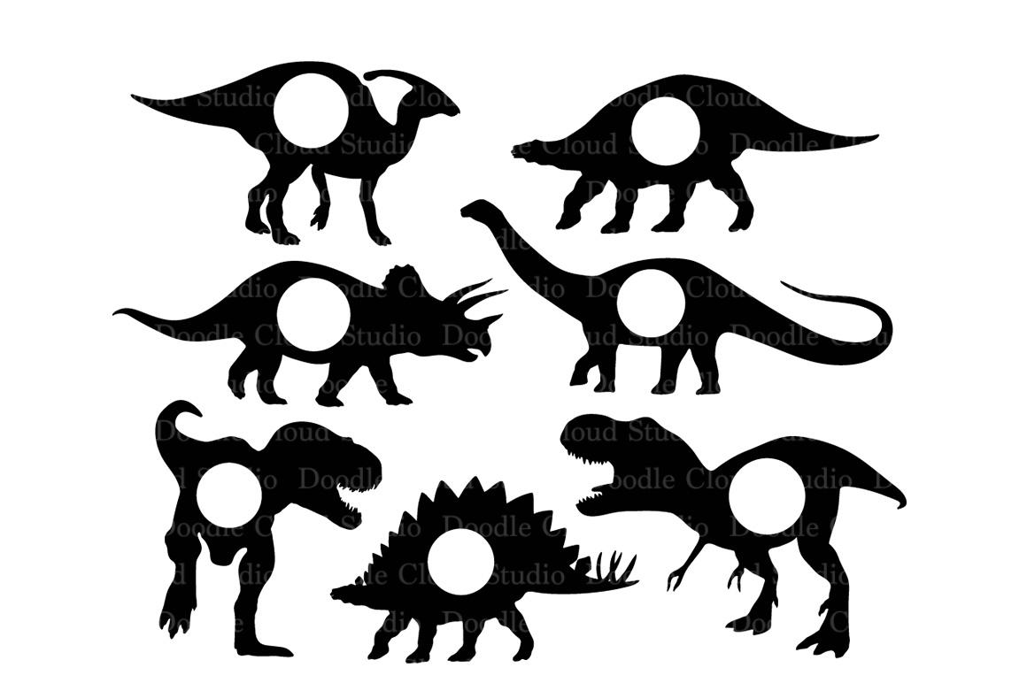 Dinosaurs SVG Dinosaur Monogram T-Rex Prehistoric Dinosaur. example image 2
