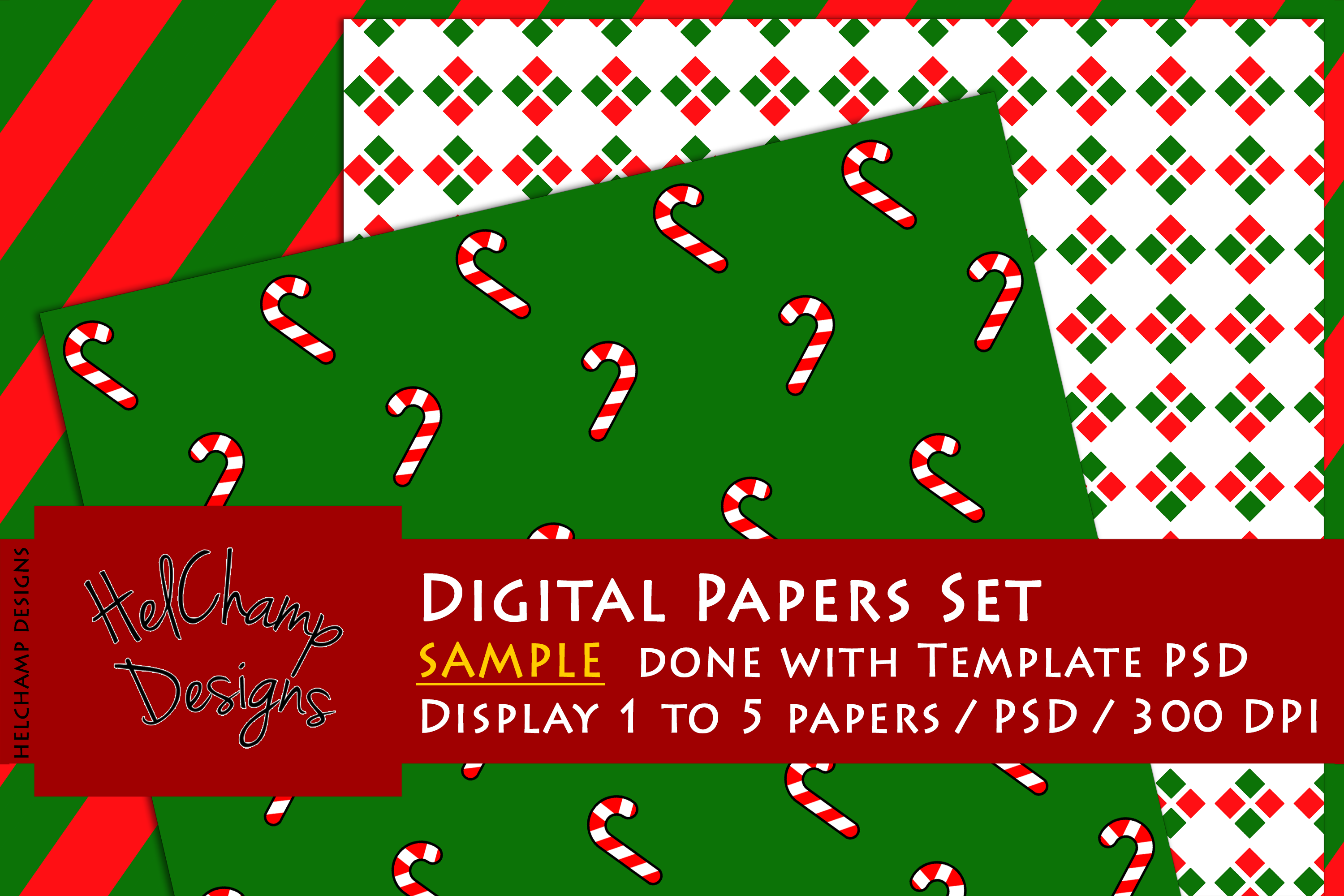 1 to 5 Panels Mockup for Digital Papers - M02 example image 5