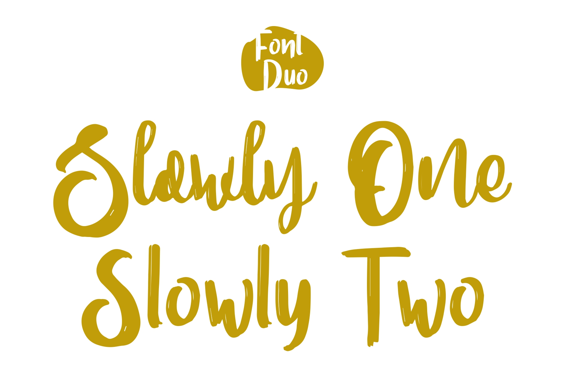 SLOWLY Font Duo example image 6