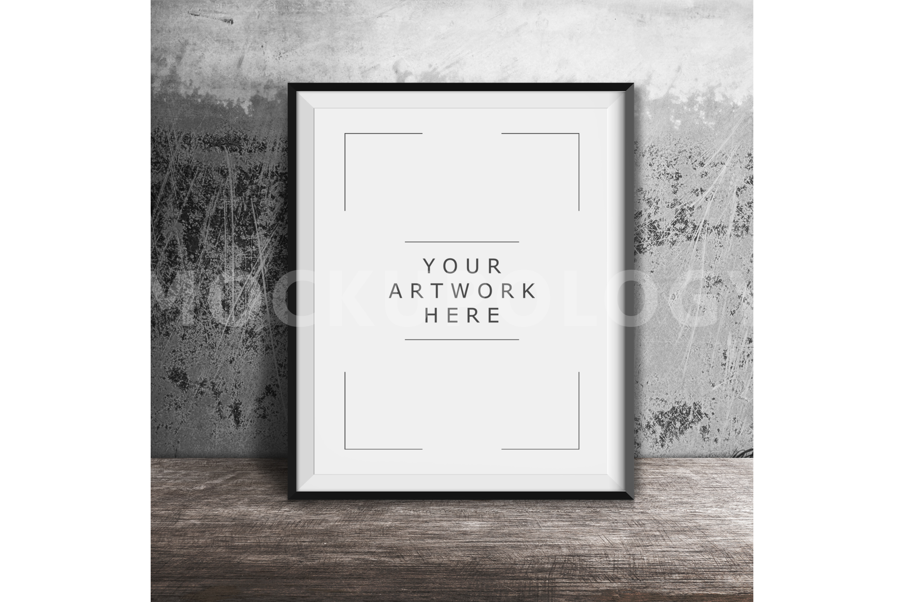 8x10 16x20 24x30 Vertical DIGITAL Black Frame Mockup, Styled ...