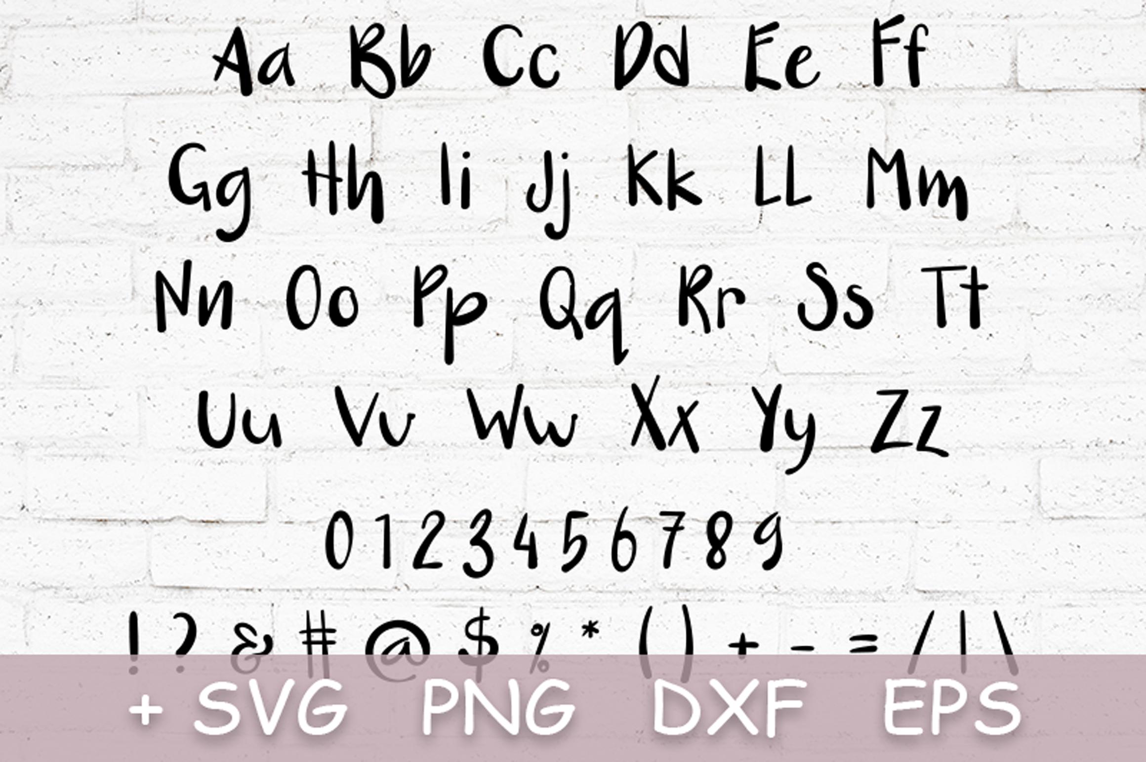 Nut Monster - handdrawn font example image 7