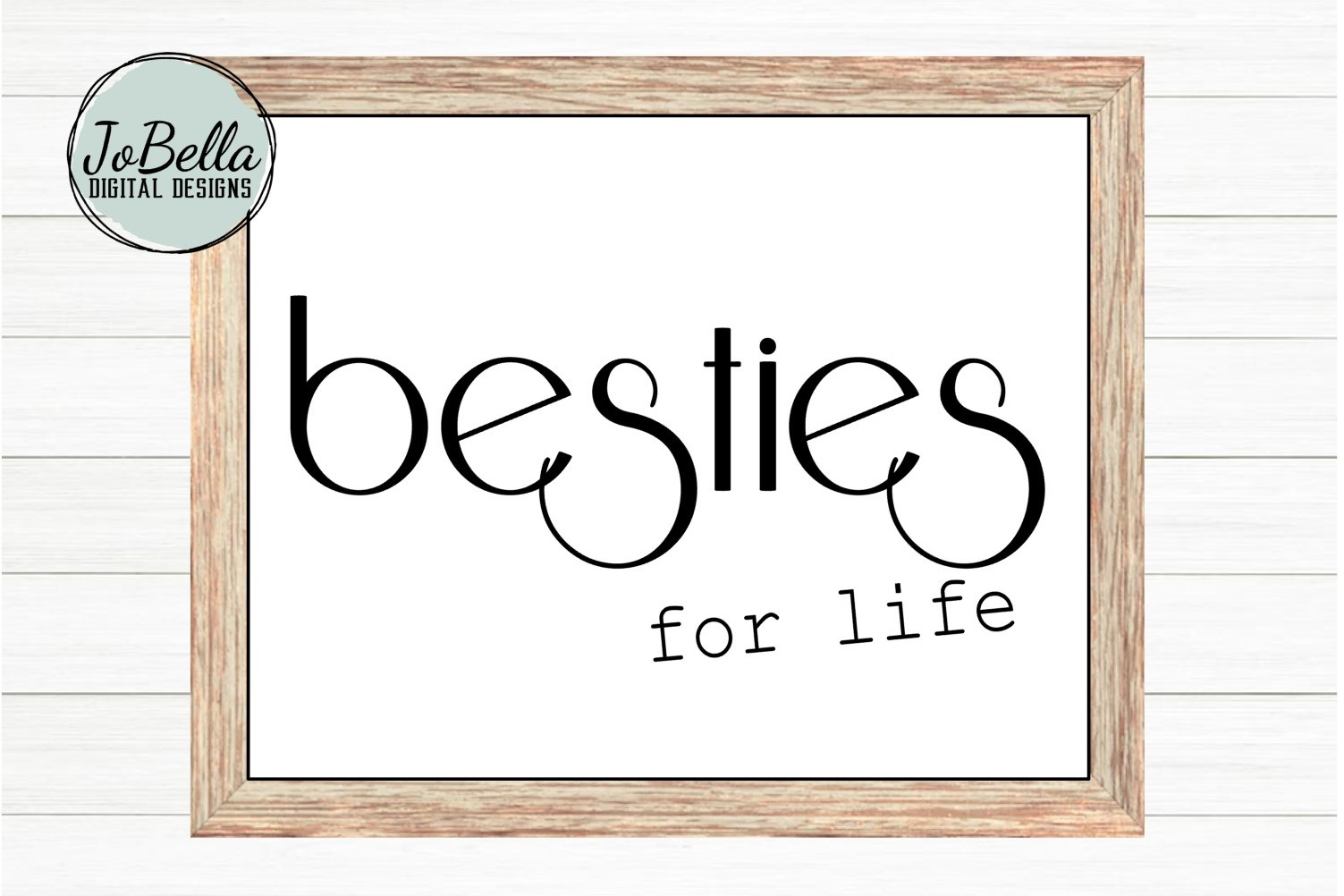 Besties For Life SVG and Printable Friendship Design example image 3