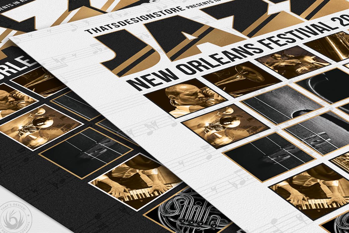 Jazz Festival Flyer Template V9 example image 6