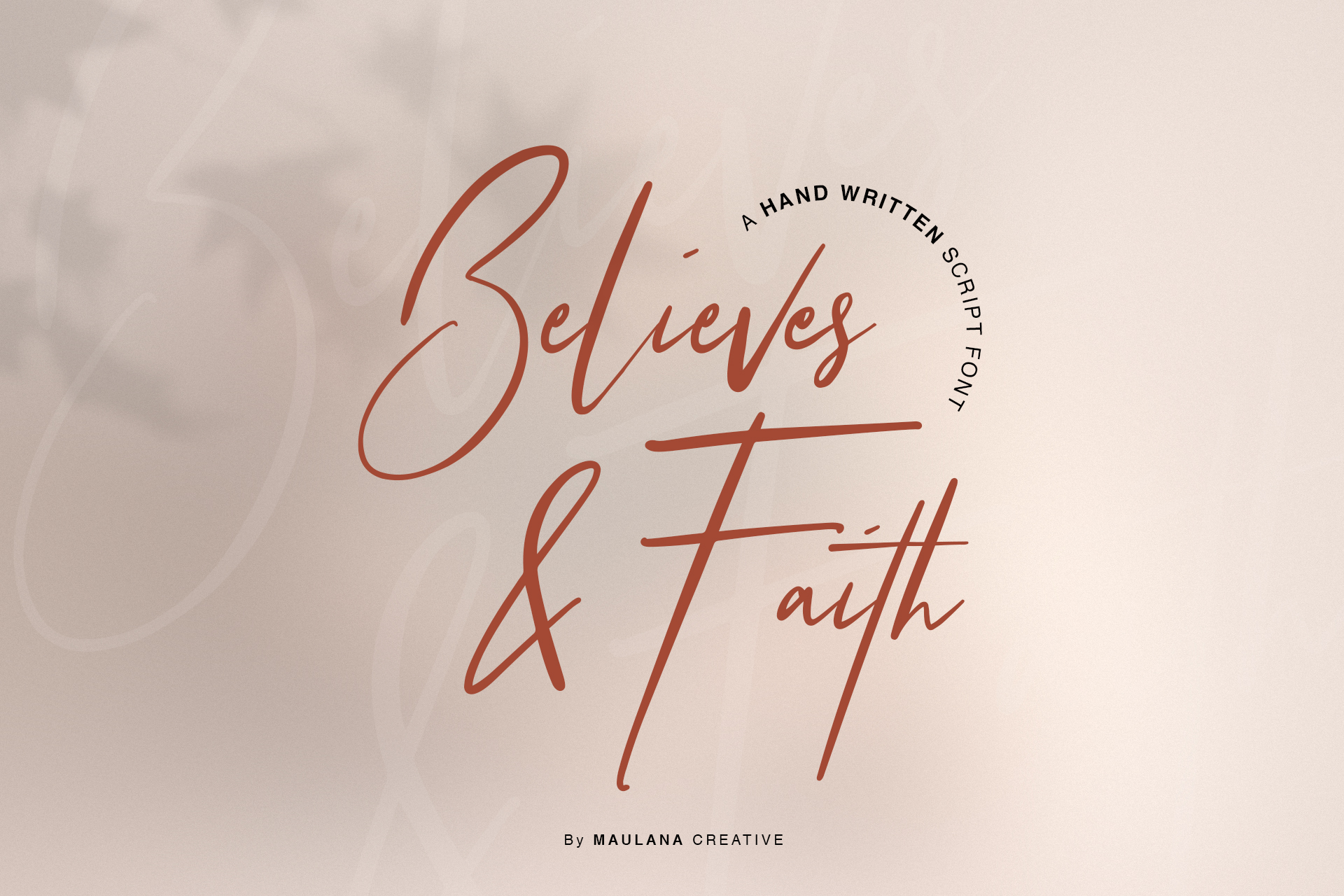 Believes And Faith Font example image 1