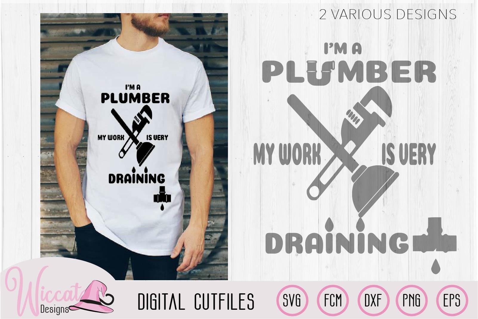 I'm a plumber quote, Plumber pun, plumber tools, man shirt, example image 2