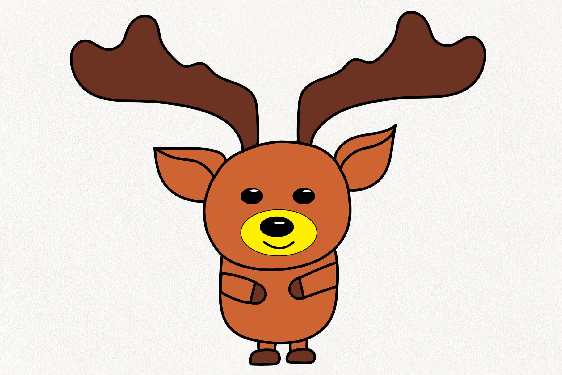 Christmas deer example image 1