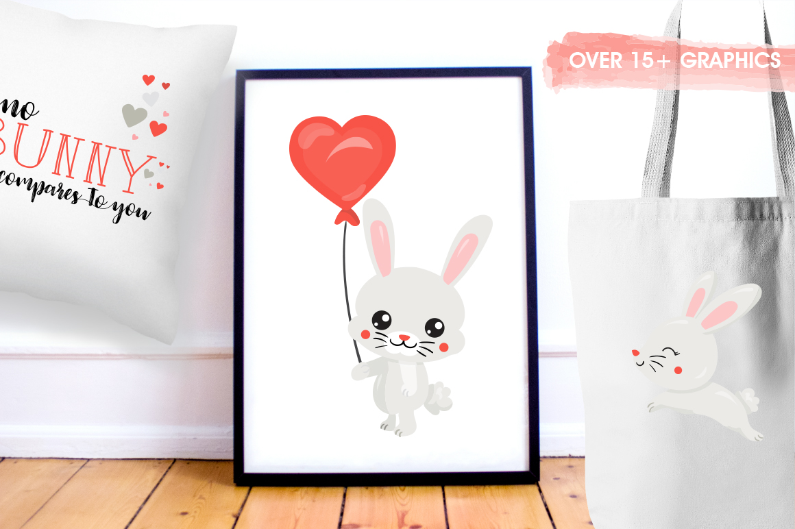 Cute Bunny graphic and illustrations example image 3