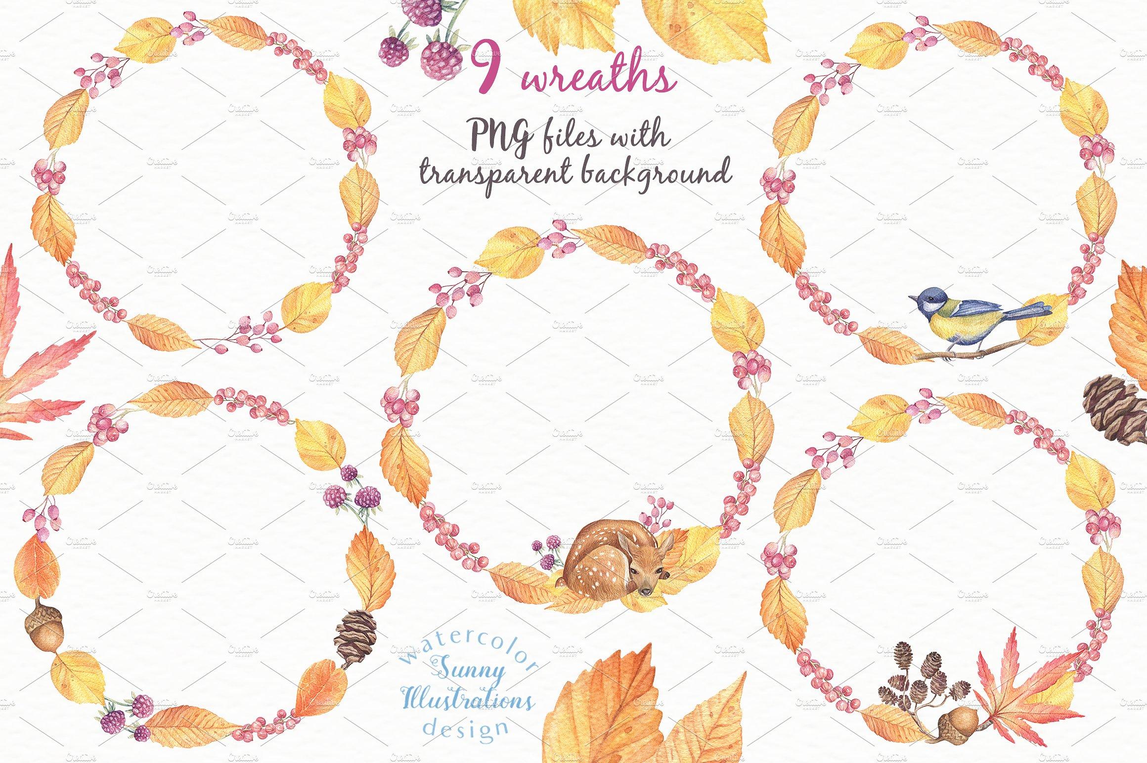 Happy Autumn - Watercolor Set example image 7