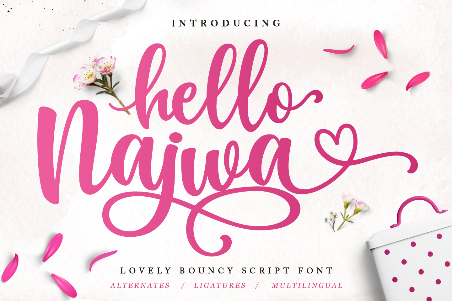 Hello Najwa - Lovely Script Font example image 1