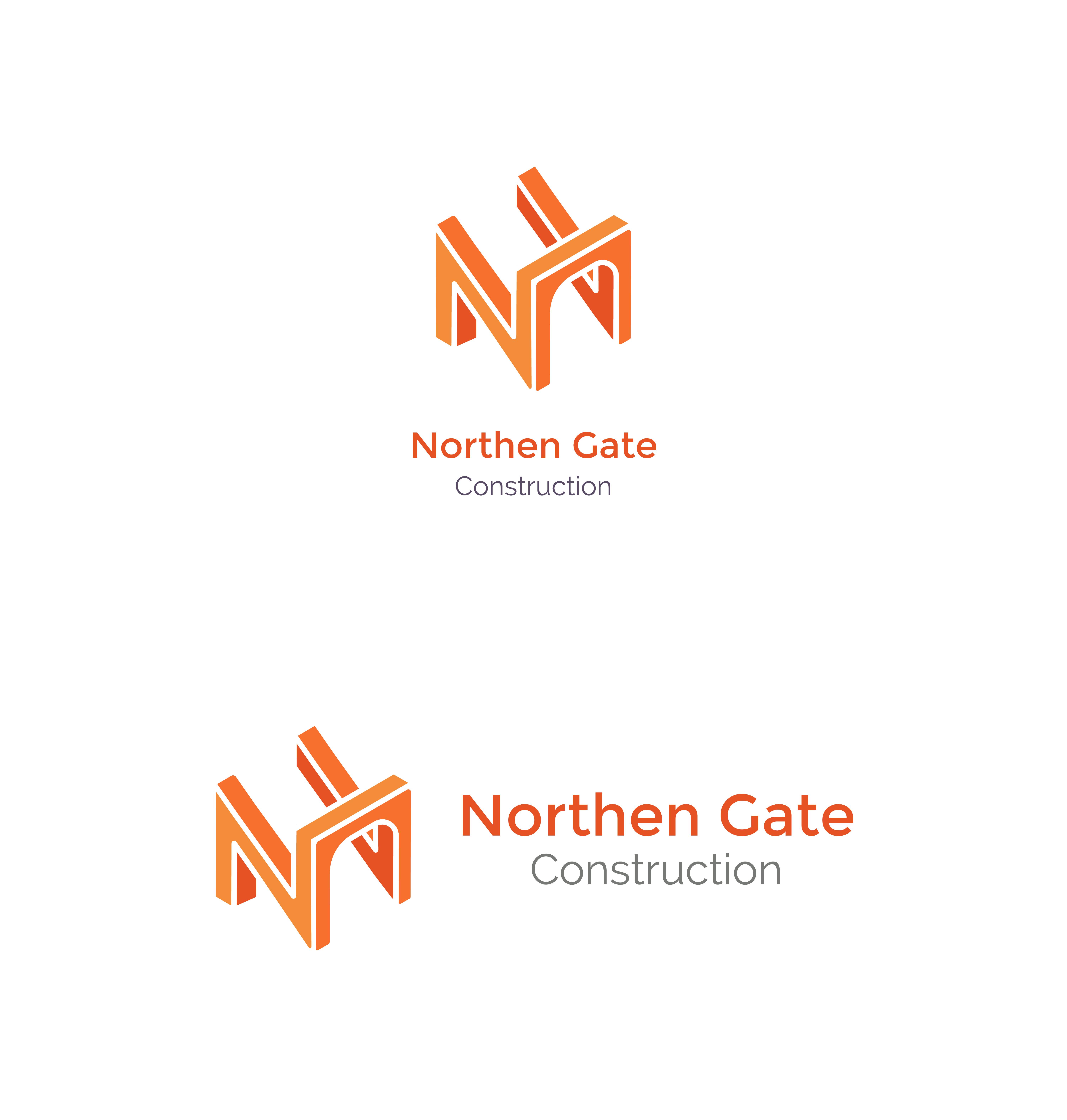 Letter N - Construction Gate Bridge Logo Logo Template example image 5