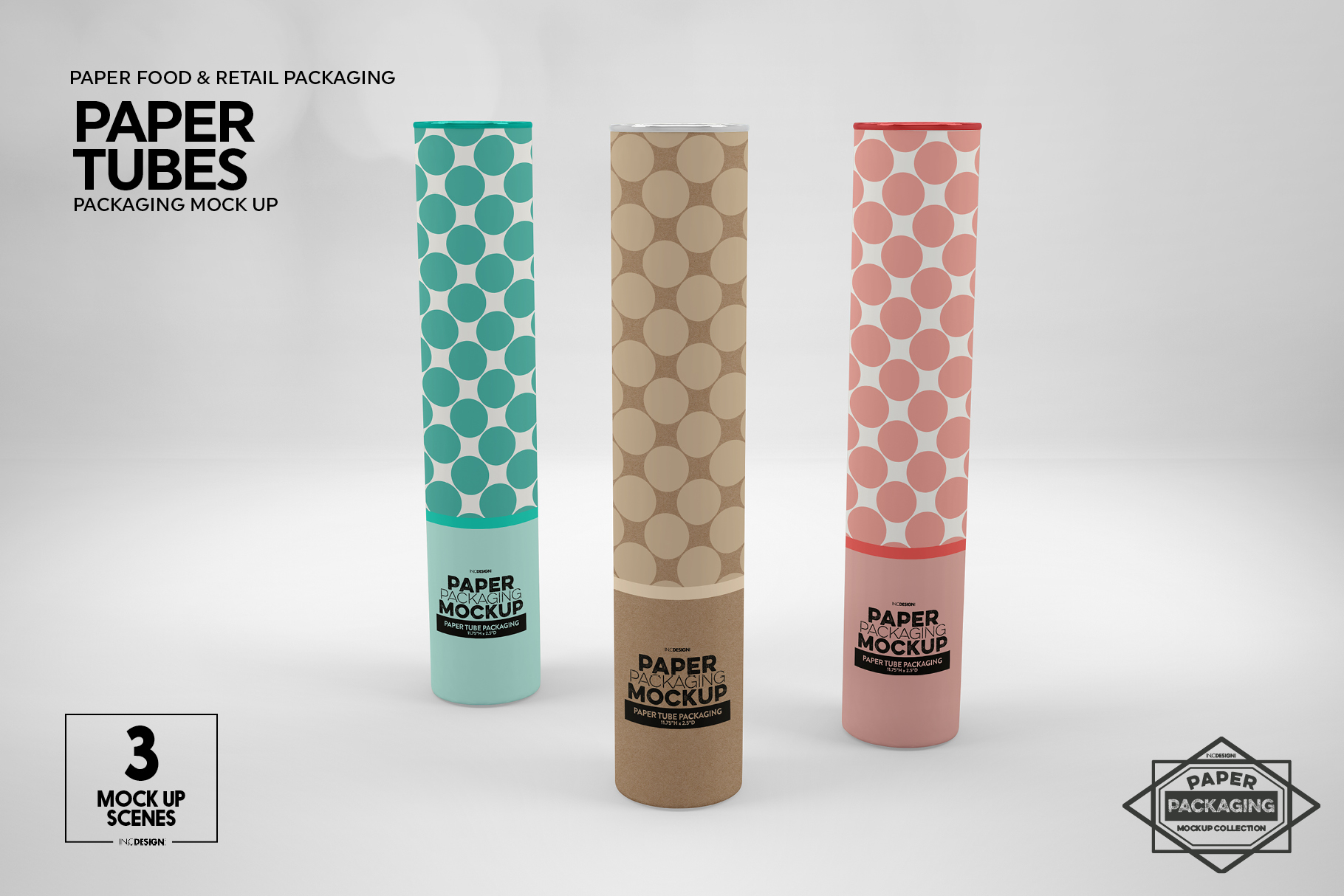 Paper Tube Packaging Mockup example image 9