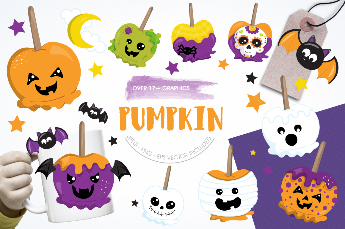 Pumpkin graphic and illustrations example image 1