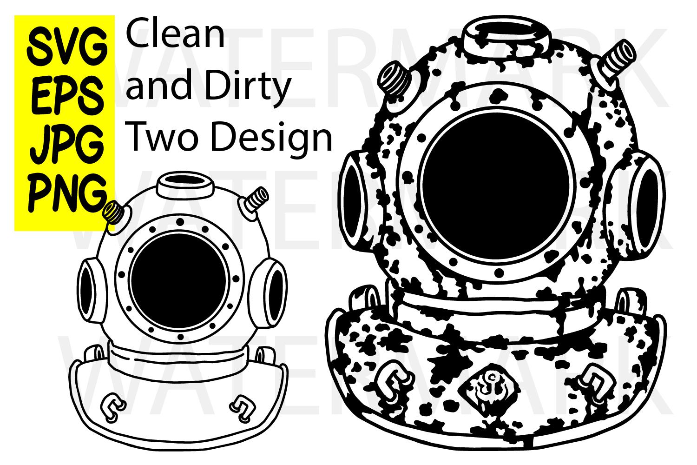 Underwater Man - SVG EPS JPG PNG example image 1