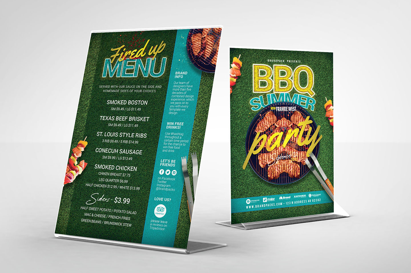 BBQ Cookout Flyer Template example image 2