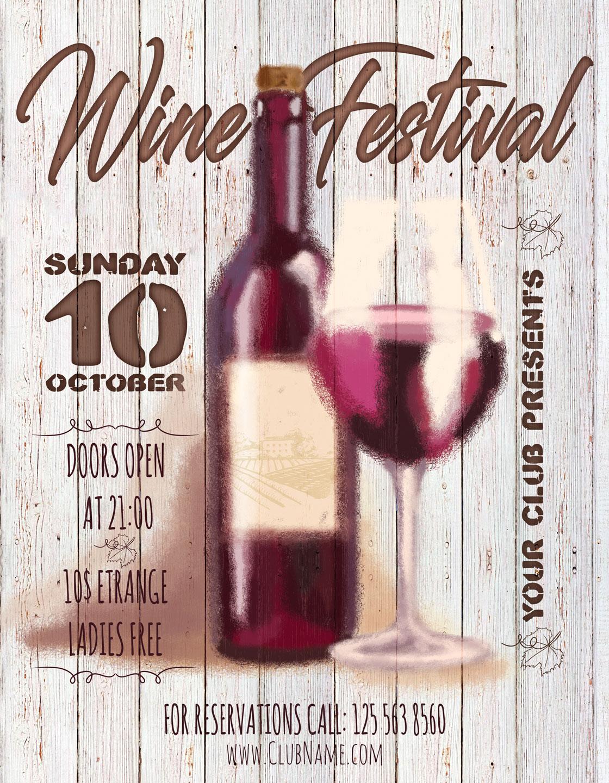 Wine Festival Flyer example image 4
