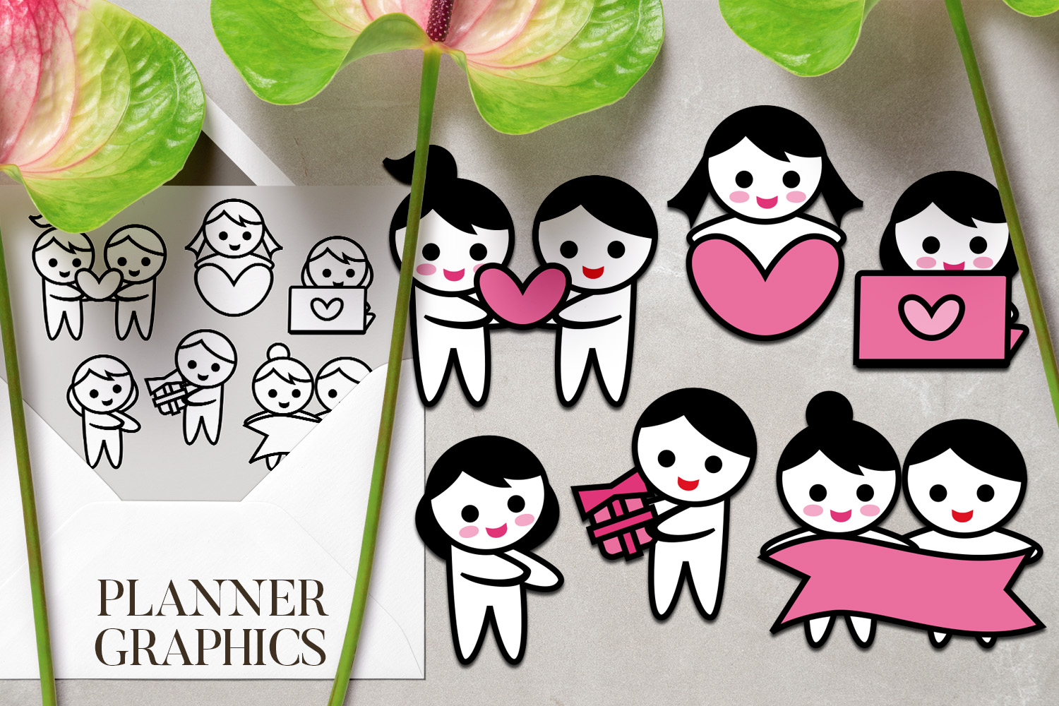 Holidays Bundle - Planner Graphic Illustrations example image 23