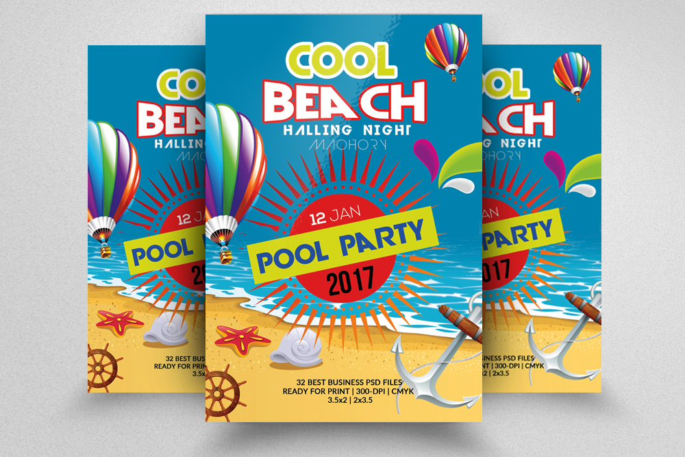 10 Summer Beach Party Flyers Bundle example image 6