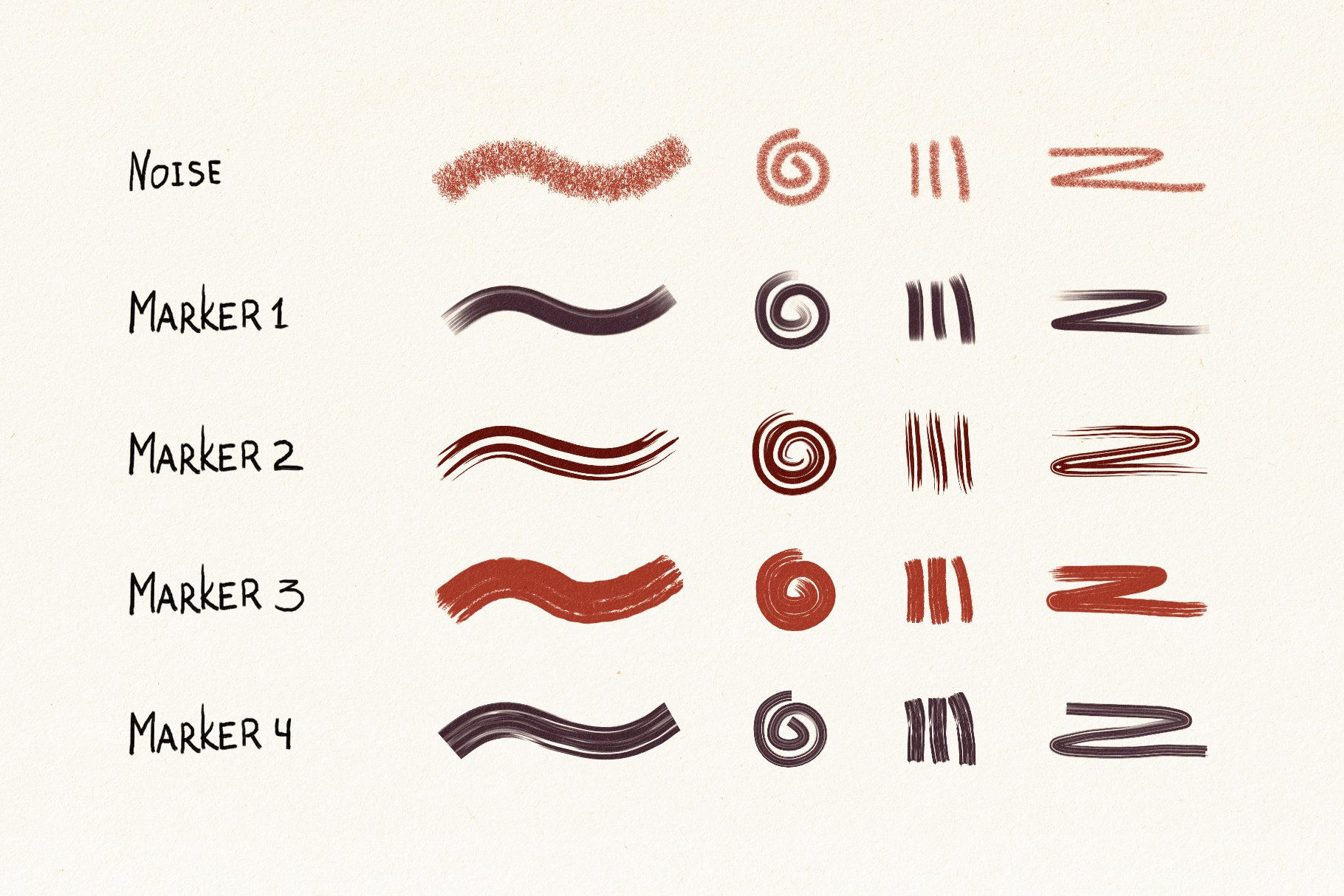 Hand Drawn Brushes for Affinity Designer example image 4
