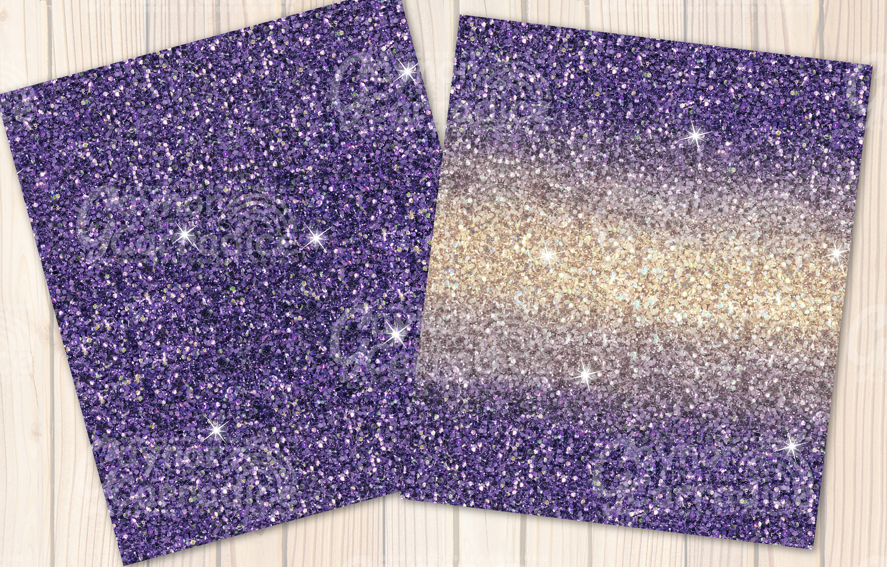 Provence- purple Glitter backgrounds example image 7