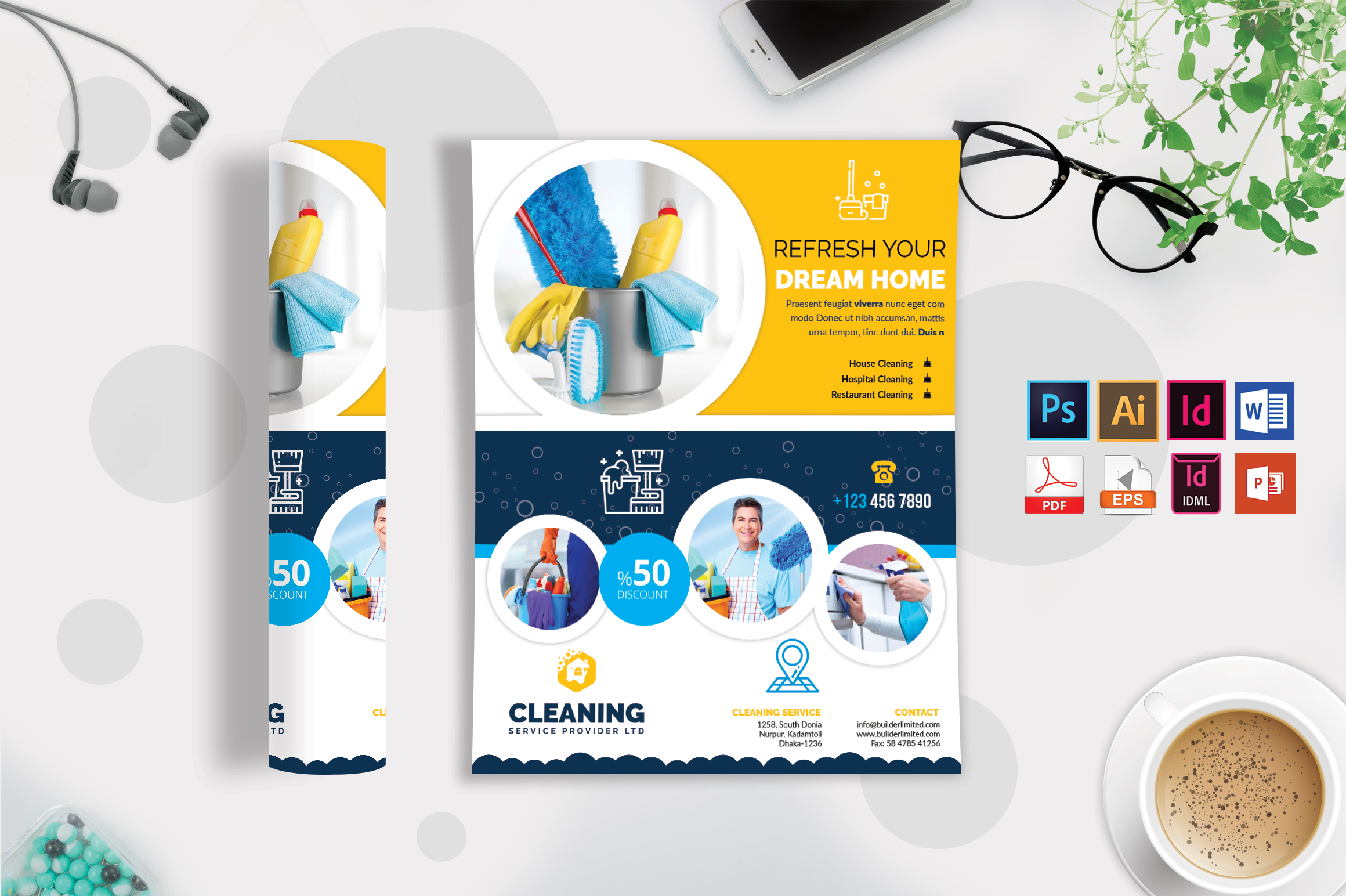 Cleaning Service Flyer Vol-09 example image 2