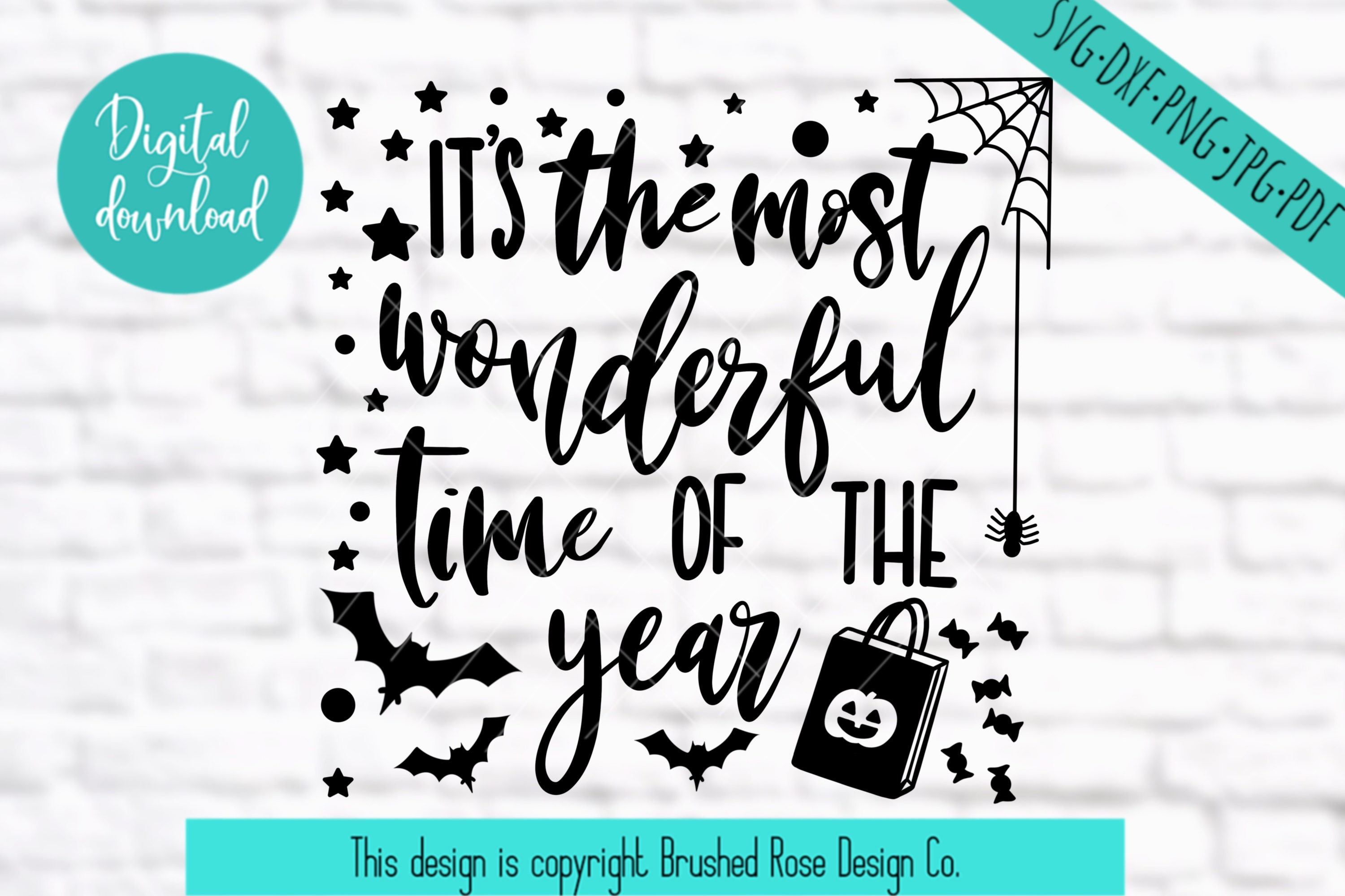 Halloween svg,fall svg,fall clipart, the most wonderful time example image 2
