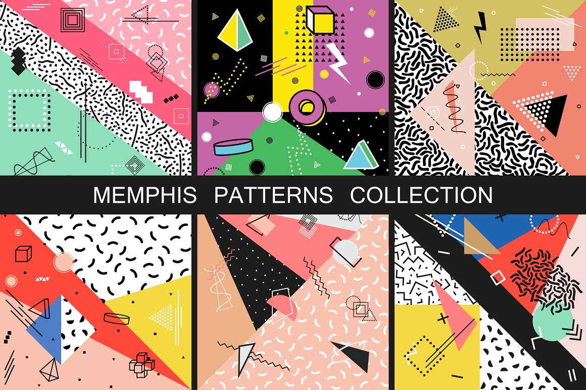 Memphis Patterns. Fashion 80-90s example image 1