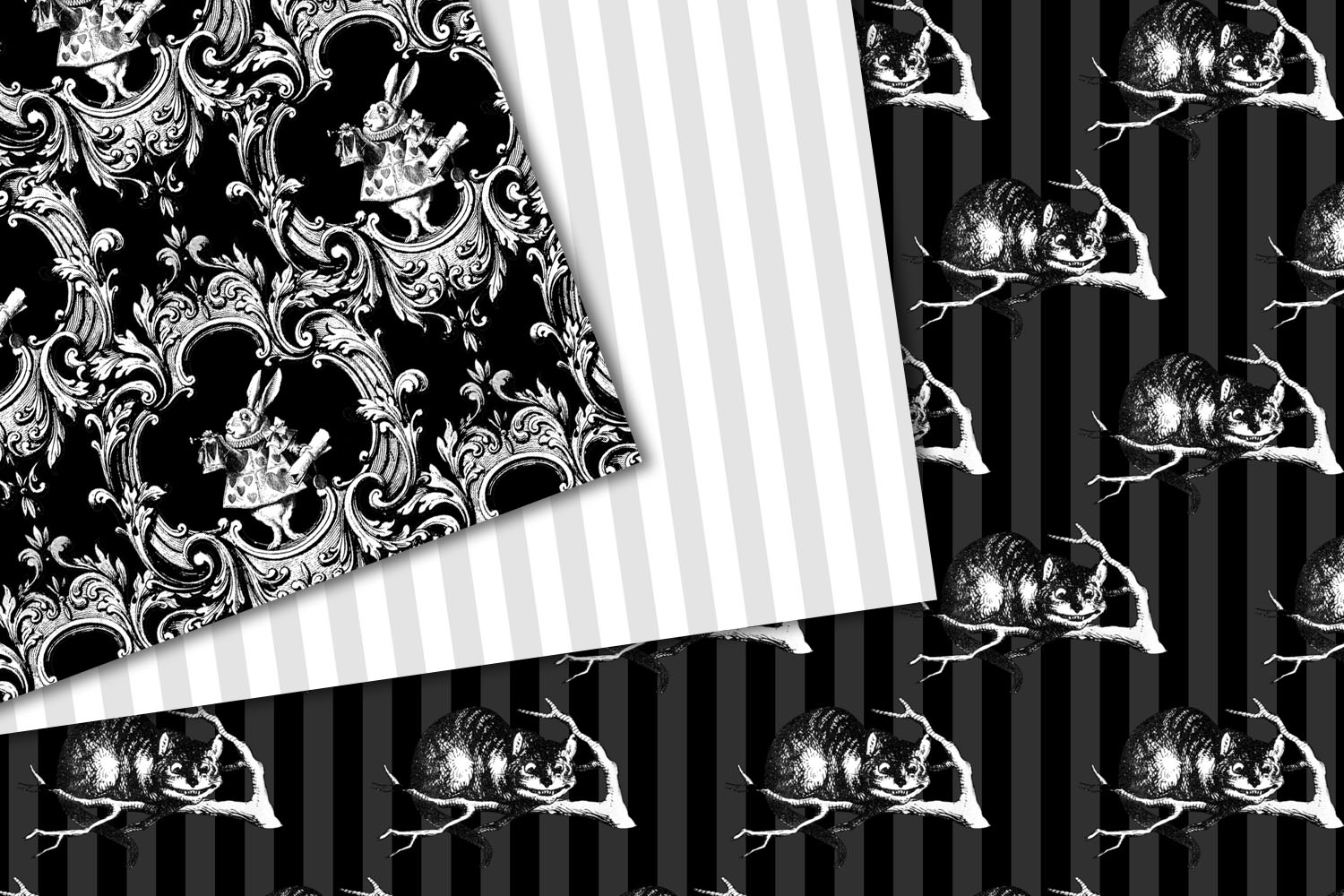 Black and White Alice in Wonderland Graphics example image 4