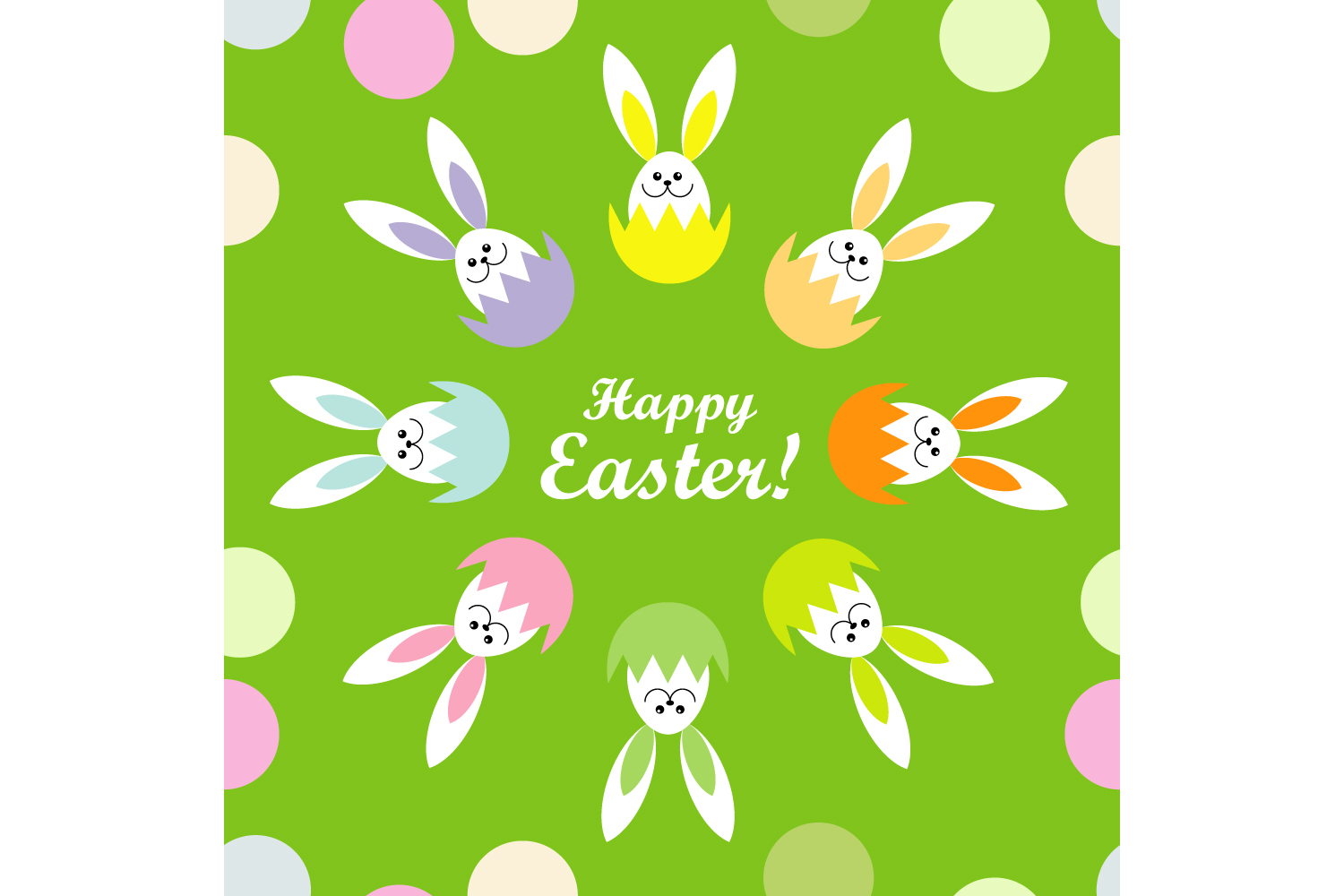 Easter ornament. Set of 7 seamless patterns. example image 2