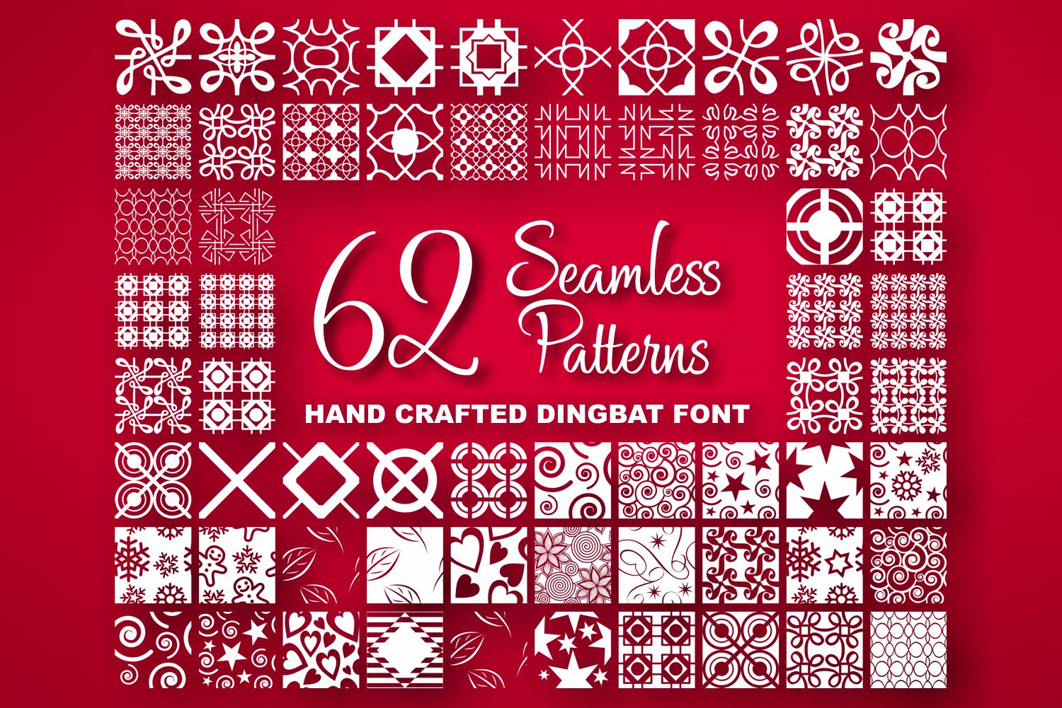 Seamless Pattern Dingbat Font example image 1