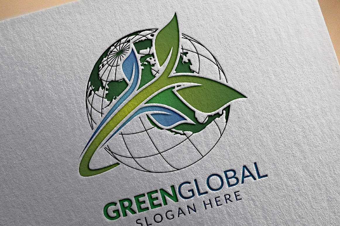 Green Global Ecology logo template example image 2