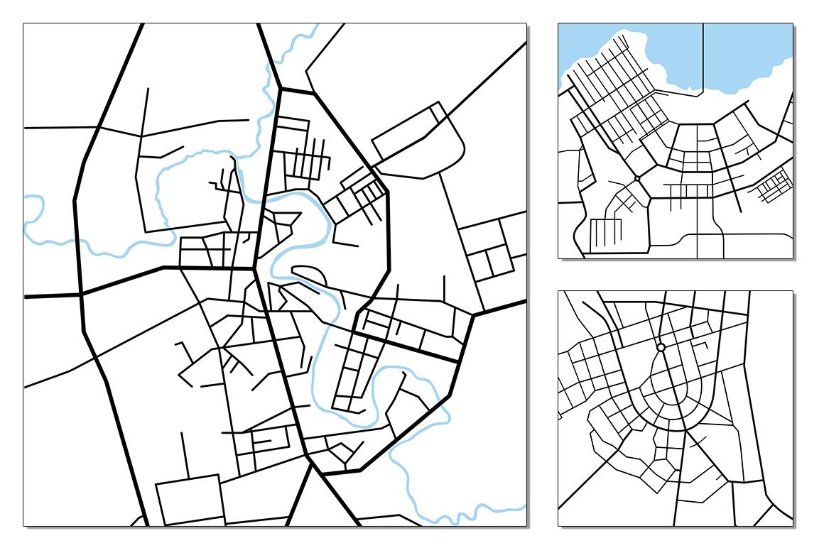 Street maps illustrations example image 9