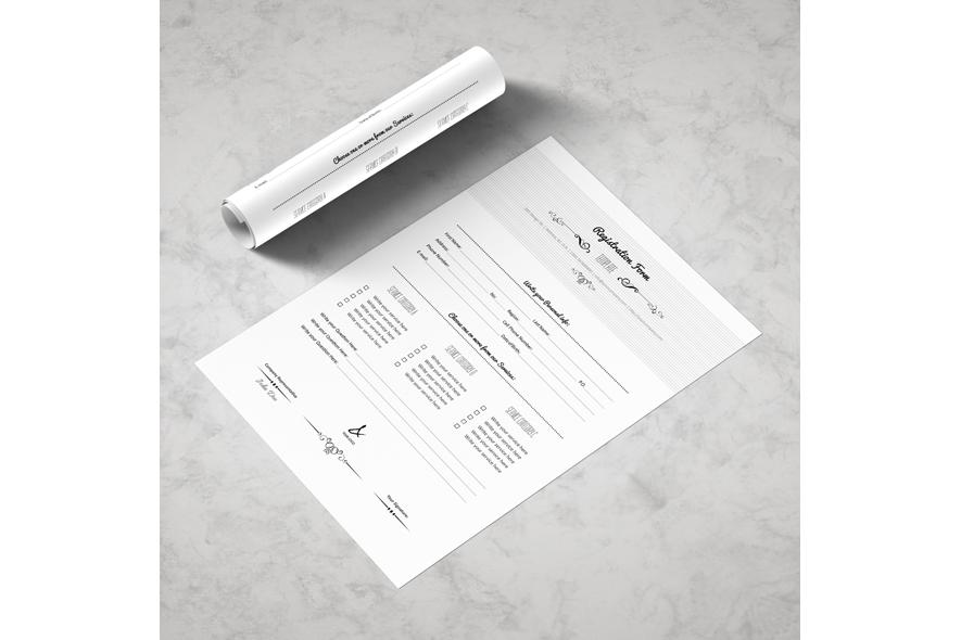 Registration Form Template v5 example image 4