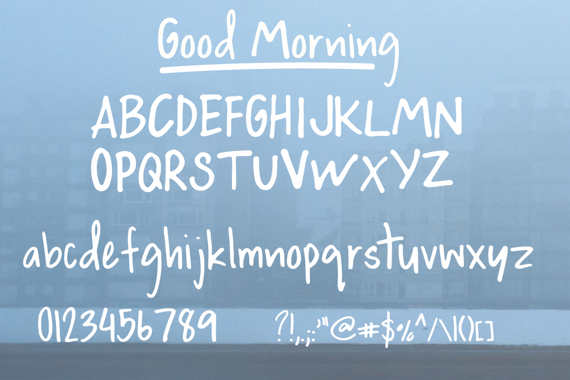 Good Morning | Handwritten Font example image 6