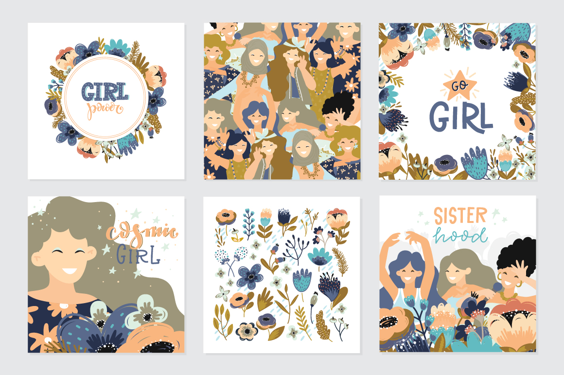Girls - vector big collection example image 4