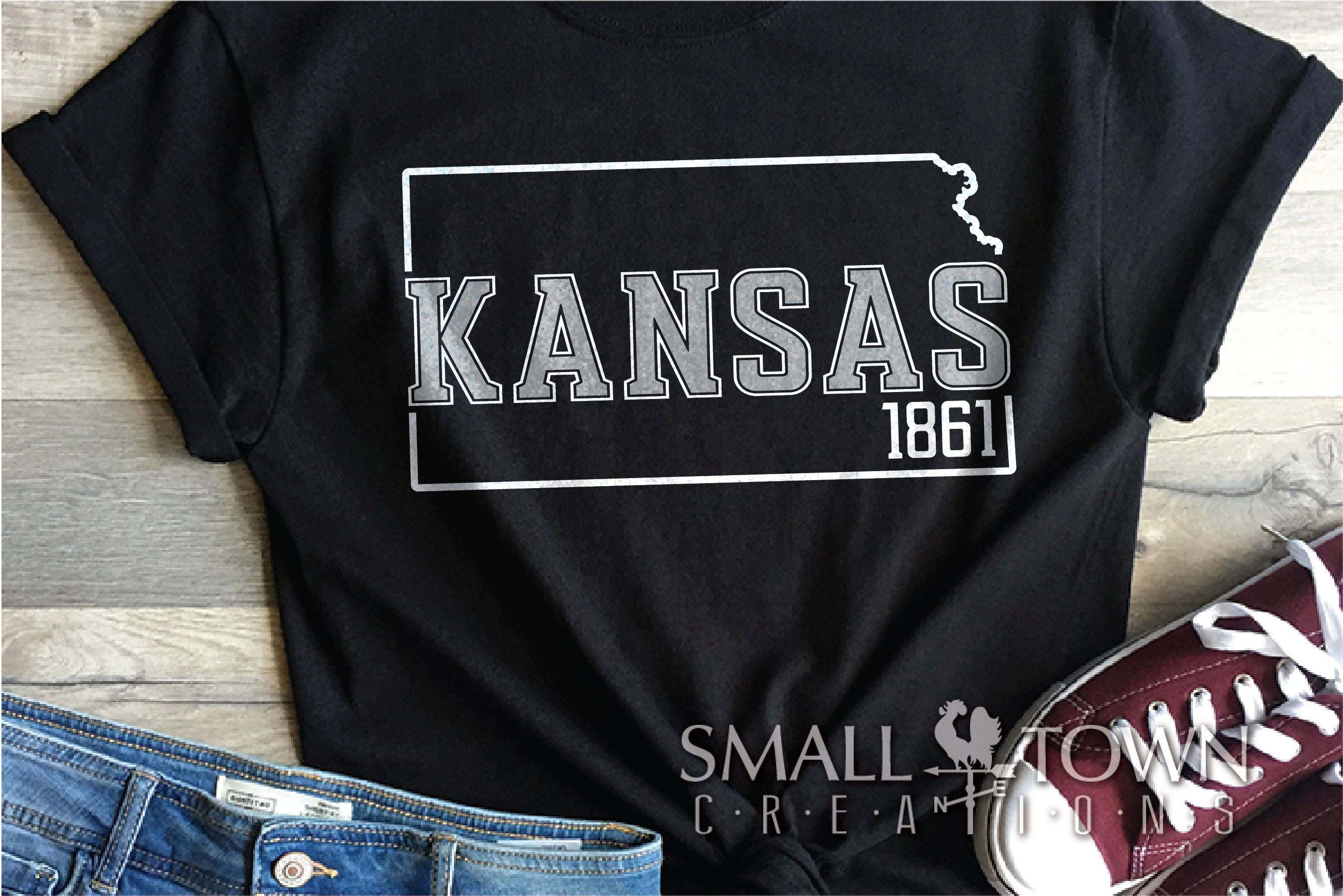 Kansas, The Wheat State - slogan, Logo, PRINT, CUT & DESIGN example image 6