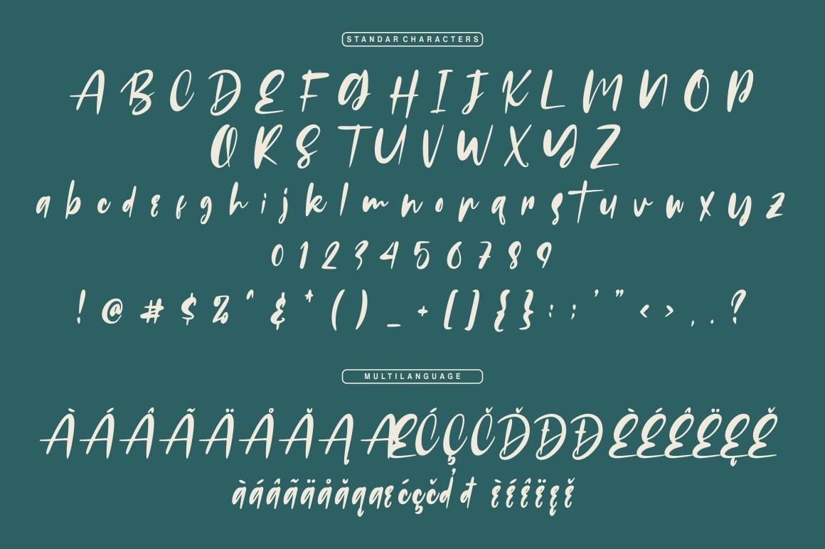 Russeline - Handwritten Font example image 7