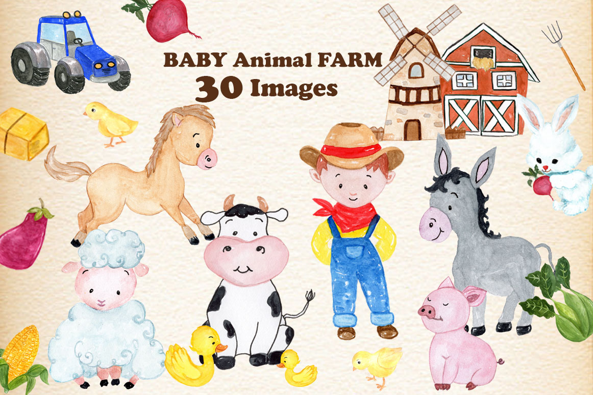 Farm Animals Clipart example image 1